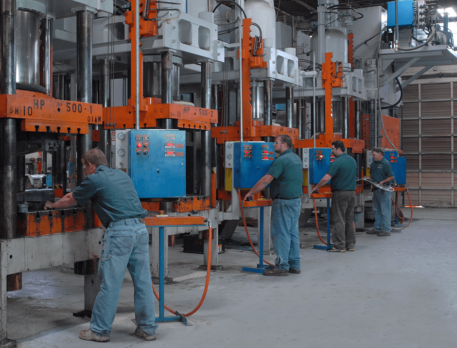 Certified Technicians operating Hot Stamping Machines